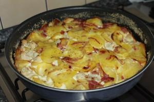 Zapekané zemiaky s karfiolom, sladký život