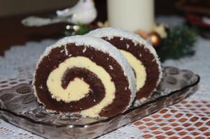 kokosová roláda, vanilková roláda, kakaová roláda, vianočné pečenie, sladký život
