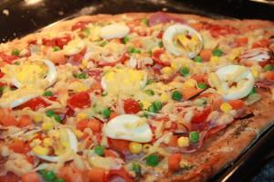 Celozrnná pizza, rýchla pizza, pizza bez kysnutia, pizza bez kvasníc, pizza bez vajec, jednoduchá pizza, Sladký život