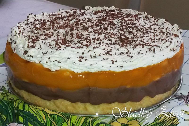 Pudingovo – marhuľová torta