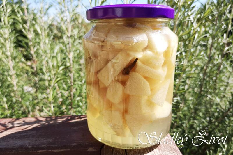 jablkový kompót, zavárané jablká, recepty, sladký život