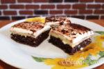 obrátený tvarohový koláč, šťavnatý tvarohový koláč so smotanou, sladký život, recepty